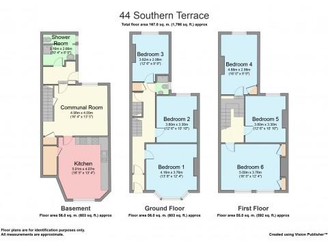 Southern Terrace, Mutley, Plymouth : Floorplan 1
