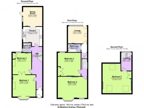 Beatrice Avenue, Plymouth : Floorplan 1