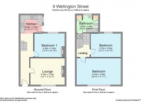 Wellington Street, Plymouth : Floorplan 1