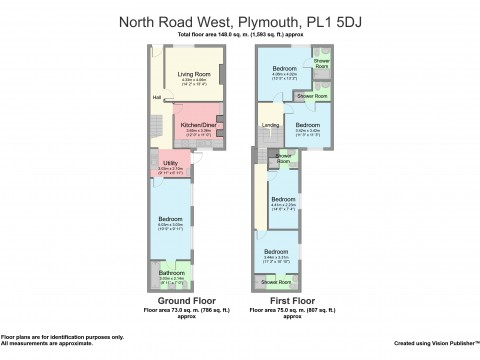 North Road West, Centre , Plymouth : Floorplan 1