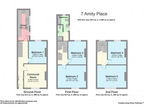 Amity Place, Plymouth : Floorplan 1