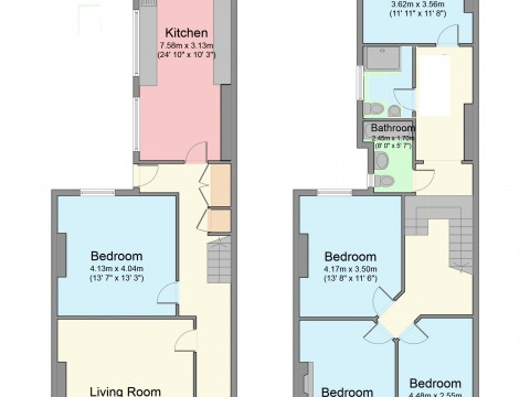 Carlton Terrace, St Judes, Plymouth : Floorplan 1