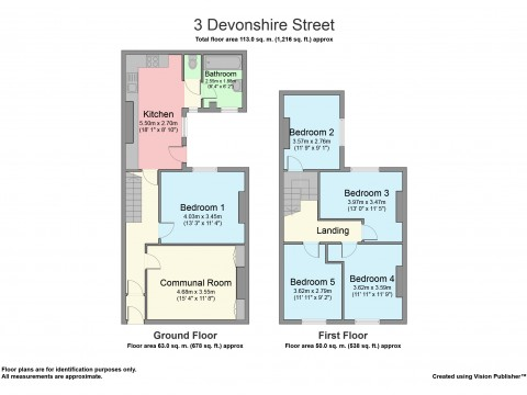 Devonshire Street, North Hill, Plymouth : Floorplan 1