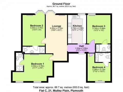 Mutley Plain, Plymouth : Floorplan 1