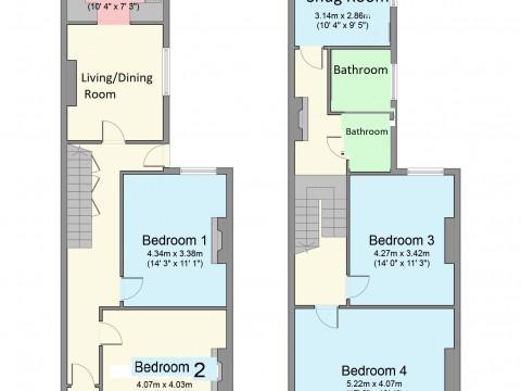Wake Street, Pennycomequick, Plymouth : Floorplan 1