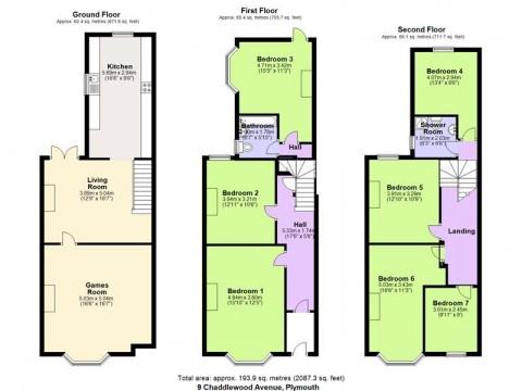 Chaddlewood Avenue, Plymouth : Floorplan 1
