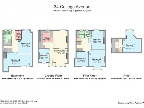 College Avenue, Mutley, Plymouth : Floorplan 1
