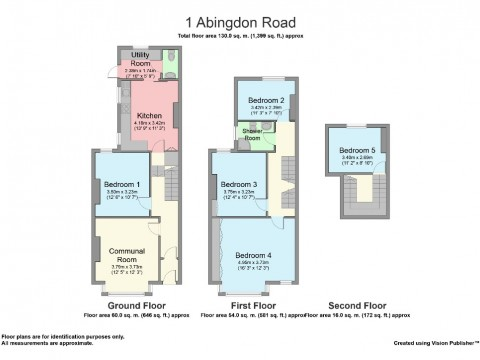 Abingdon Road, North Hill, Plymouth : Floorplan 1