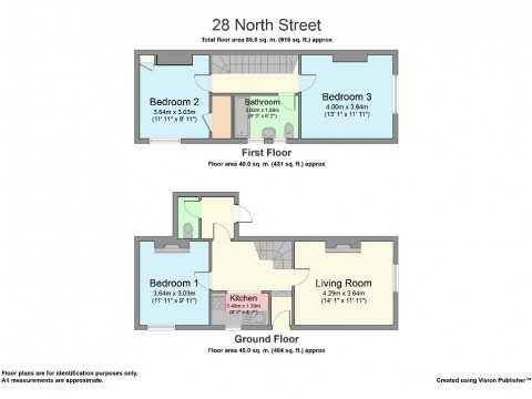 North Street, Greenbank, Plymouth : Floorplan 1
