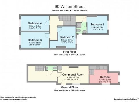 Wilton Street, Stoke, Plymouth : Floorplan 1