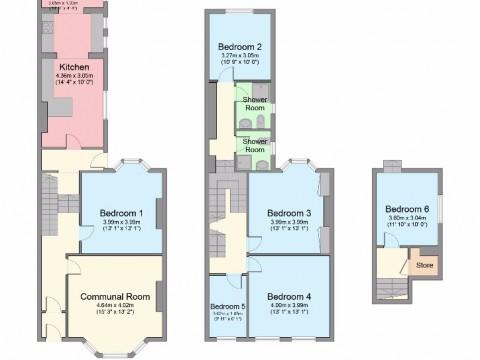 Alexandra Road, Mutley, Plymouth : Floorplan 1