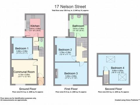 Nelson Street, Greenbank, Plymouth : Floorplan 1